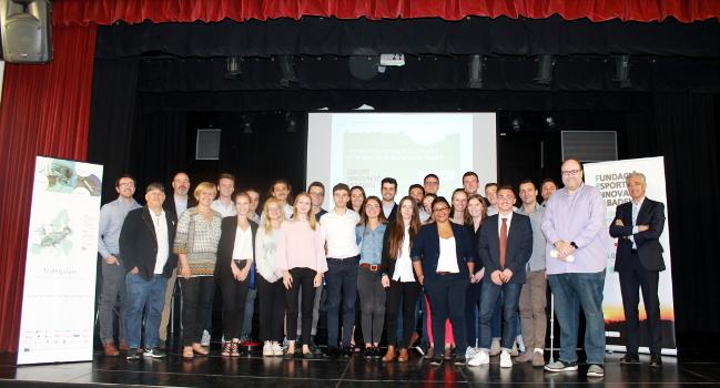 Presentació dels treballs finals del màster de la Toulouse Bussines School sobre l'acceleració econòmica centrats en Sabadell