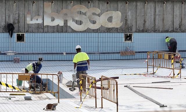 Les obres de renovació de la Bassa encarrilen la recta final, amb un estalvi d'1 milió d'euros