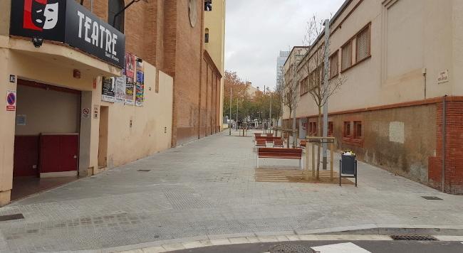 Les obres de reurbanització del carrer de Montllor i Pujal han finalitzat