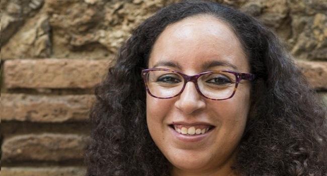 L'escriptora Najat El Hachmi, a l'acte d'inici dels cursos de català del Centre de Normalització Lingüística