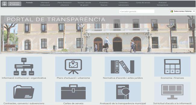 El nou portal de Transparència potencia els elements que faciliten a la ciutadania l´ús i l'accés a la informació