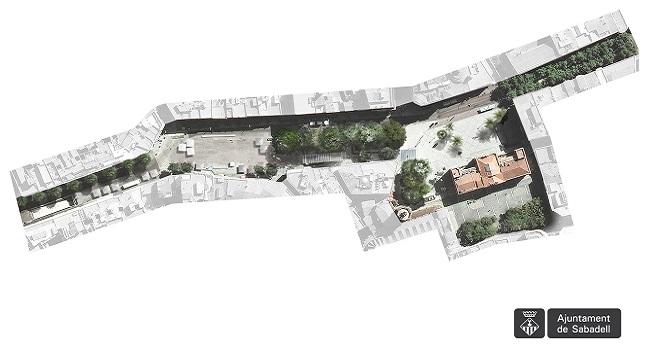 L'espai central de Sabadell inclourà la recuperació de la plaça Major i un passeig amb arbres