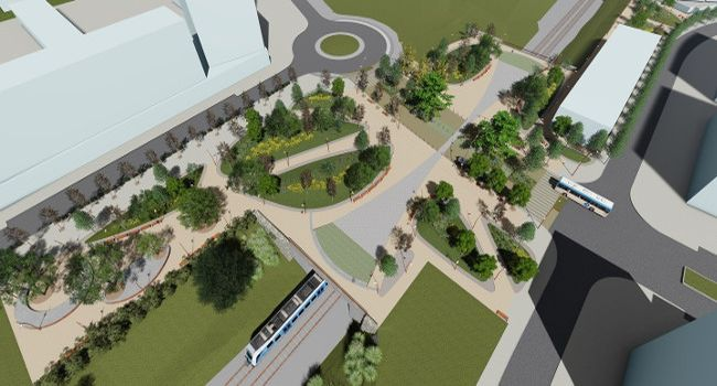 Comencen les obres d'urbanització a la plaça de Lisboa