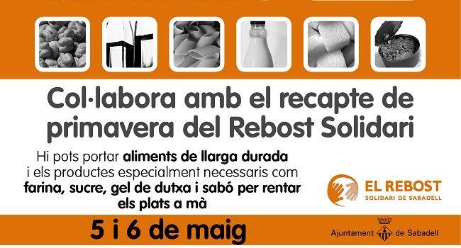 Arriba el Recapte de Primavera del Rebost Solidari, per recollir aliments de llarga durada i productes de neteja