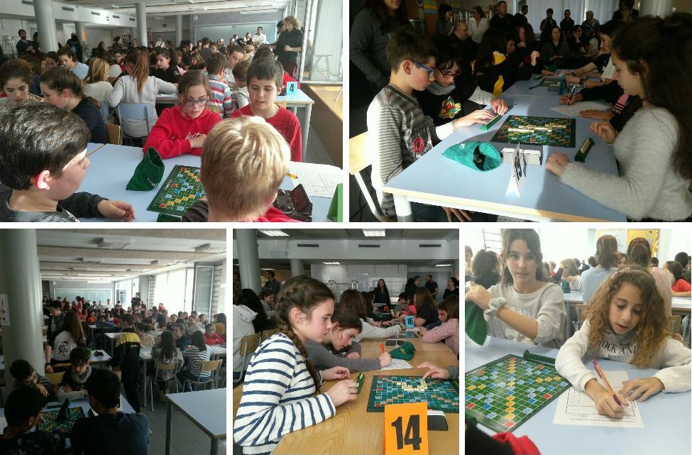 Un centenar d'alumnes de set centres participen en la final del 7è Torneig d'Scrabble Escolar en català de Sabadell