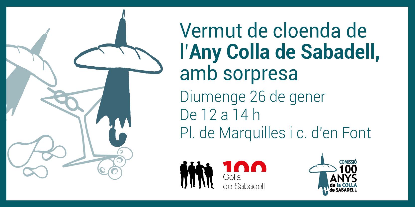 Un vermut amb sorpresa acomiada l'Any Colla de Sabadell, durant el qual s'han organitzat més d'un centenar d'actes