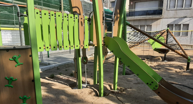 Continuen endavant les remodelacions de parcs infantils