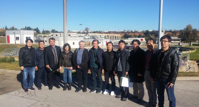 Una delegació coreana visita l'EDAR de Sant Pau de Riu-sec per conèixer el sistema de depuració d'aigua de Sabadell
