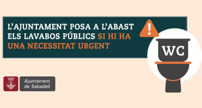 L'Ajuntament posa a l'abast els lavabos d'equipaments públics si hi ha una necessitat urgent