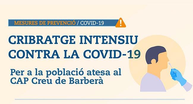 Nou cribratge intensiu a la zona sud de Sabadell per a la població del CAP Creu de Barberà