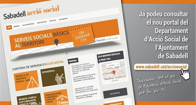 Nou web per donar a conèixer els serveis socials municipals