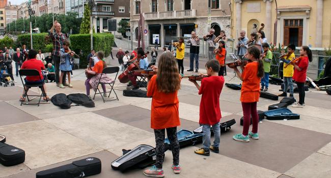 Concert de les orquestres escolars del projecte A-cordant d'aquest curs, demà a la plaça de Sant Roc