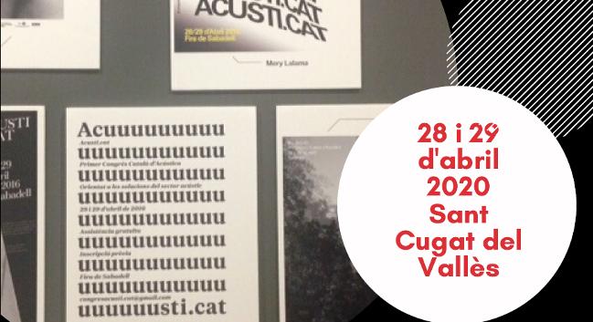 S'obren les inscripcions per al Tercer Congrés d'Acústica de Catalunya, l'Acusti.cat