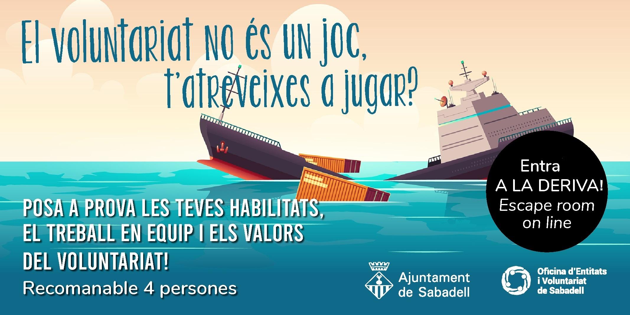 Sabadell fa un escape room virtual del voluntariat adreçat als joves