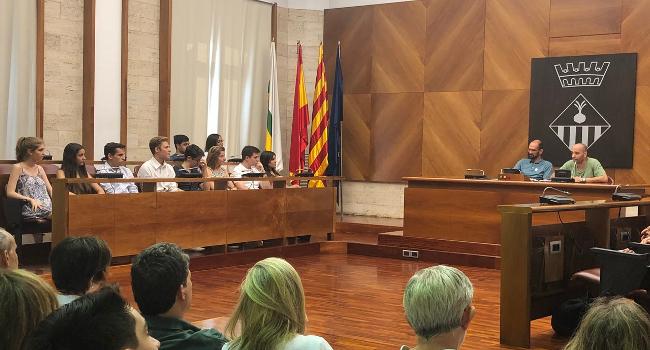 Recepció dels alumnes de Sabadell que han assolit les millors notes finals d'accés a la universitat