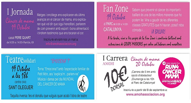 El primer AMOH Day de Sabadell proposa un programa d'activitats amb motiu del Dia Mundial del Càncer de Mama