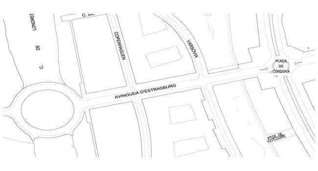 L'Ajuntament farà canvis a la plaça de Còrdova i al carrer d'Estrasburg per facilitar la fluïdesa del trànsit