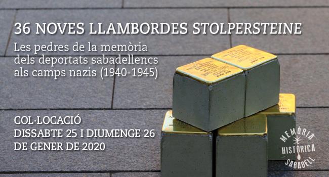 Sabadell es converteix en el municipi amb més 'stolpersteine' de l'Estat i completa l'homenatge a tots els seus deportats en camps nazis