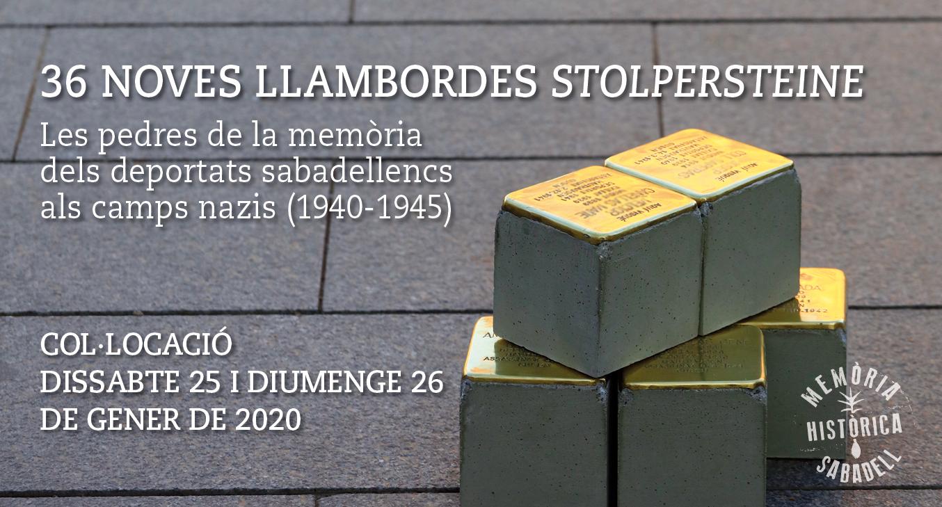 """Dues activitats prèvies a la col·locació de les 36 noves """"stolpersteine"""" amb què Sabadell acabarà d'homenatjar tots els deportats als camps nazis"""