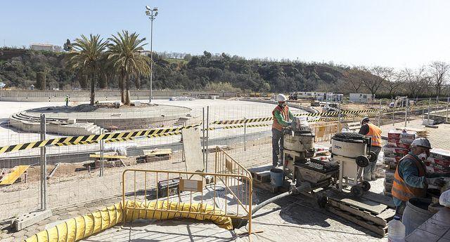 Les obres de renovació de la Bassa avancen a bon ritme