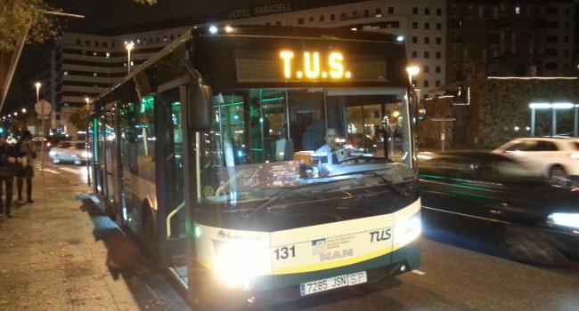 Les parades intermèdies nocturnes en el servei de transport col·lectiu urbà es posen en marxa aquest novembre