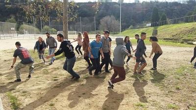 Joves europeus d'intercanvi treballen a Sabadell la crisi migratòria de les persones refugiades