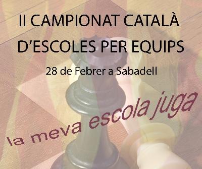 Més de 200 nens participaran al segon Campionat Català d'escacs d'escoles per equips aquest diumenge