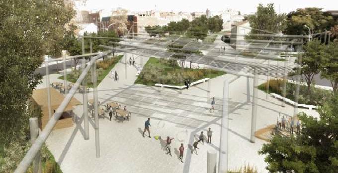 """El projecte guanyador del concurs per urbanitzar l'espai aconseguit amb el soterrament del tren a Can Feu i Gràcia és """"Teixint els barris"""""""