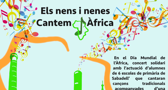 El proper dijous, prop de 350 infants de sis escoles protagonitzen el concert solidari Cantem Àfrica