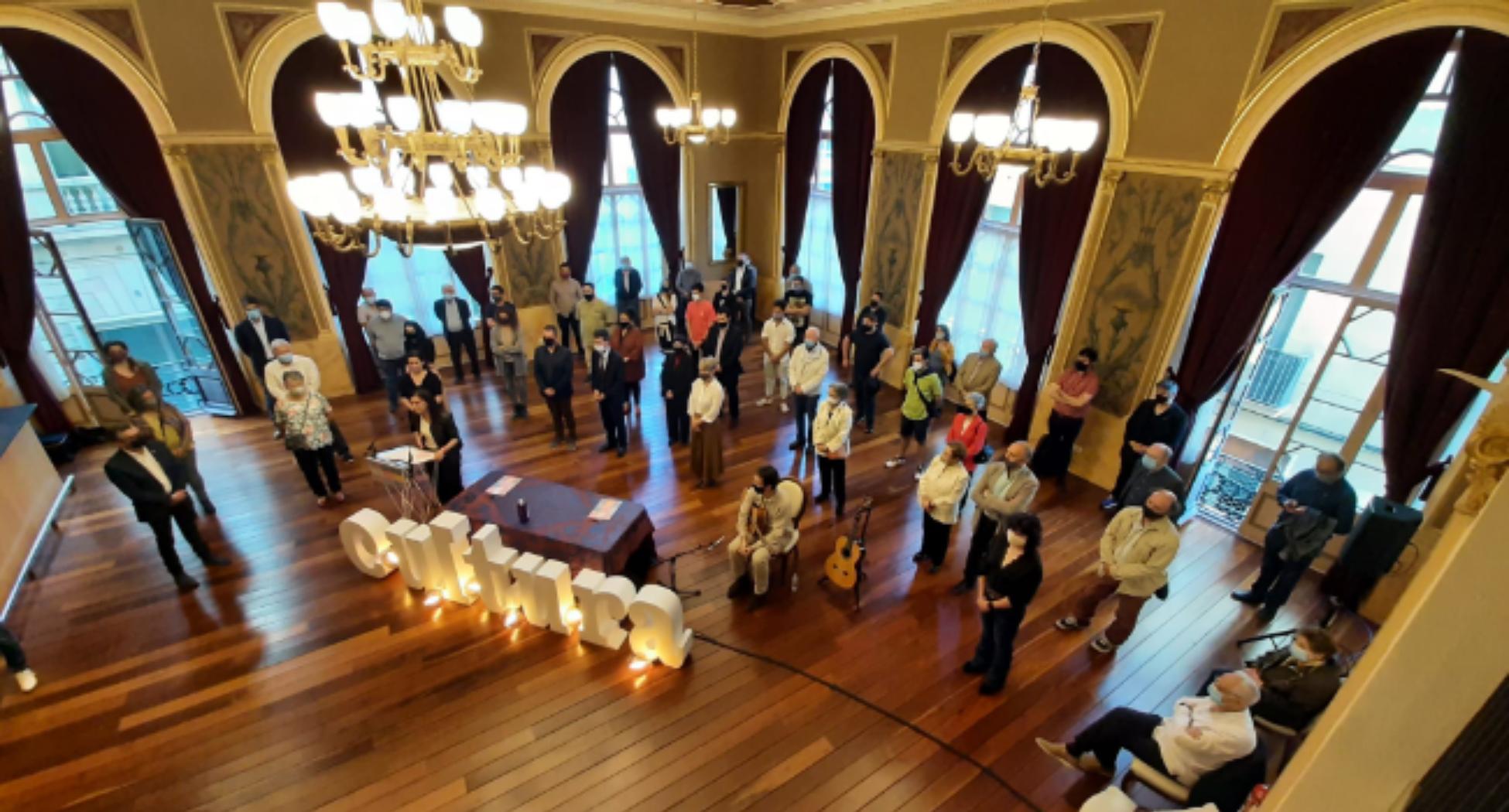 Signatura de l'acord d'adhesió ciutadana a la Capital de la Cultura Catalana