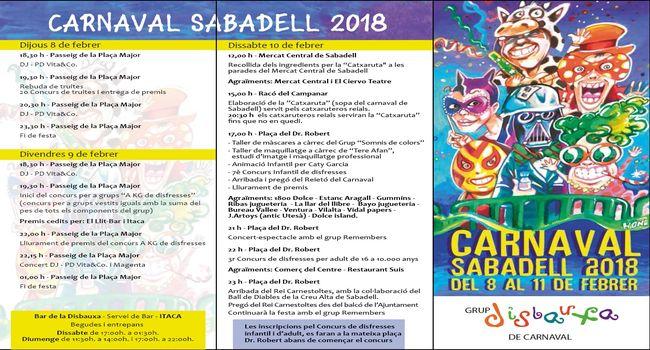 Sabadell espera l'arribada del Rei Carnestoltes