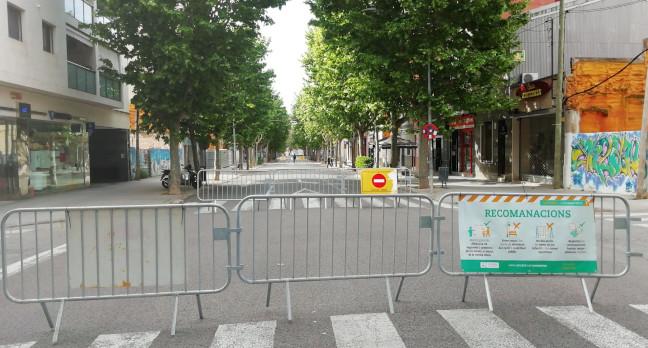 L'obertura d'eixos de vianants durant caps de setmana i festius iniciats amb motiu de la COVID es mantindrà durant tot el 2020