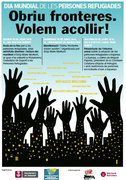 Sabadell s'adhereix a la campanya de mobilitzacions amb motiu del Dia Internacional de les Persones Refugiades