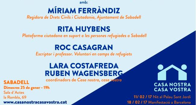 Sabadell acull demà la presentació comarcal de la Campanya Casa Nostra, Casa Vostra