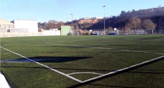 El camp de futbol de Sant Oleguer renovarà la gespa artificial