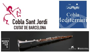 Les cobles Sant Jordi, Mediterrània i la de Cambra de Catalunya, dirigides per Antoni Ros-Marbà, assagen a Ca l'Estruch