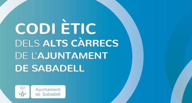 L'Ajuntament de Sabadell ja es regeix pel codi ètic dels alts càrrecs del consistori