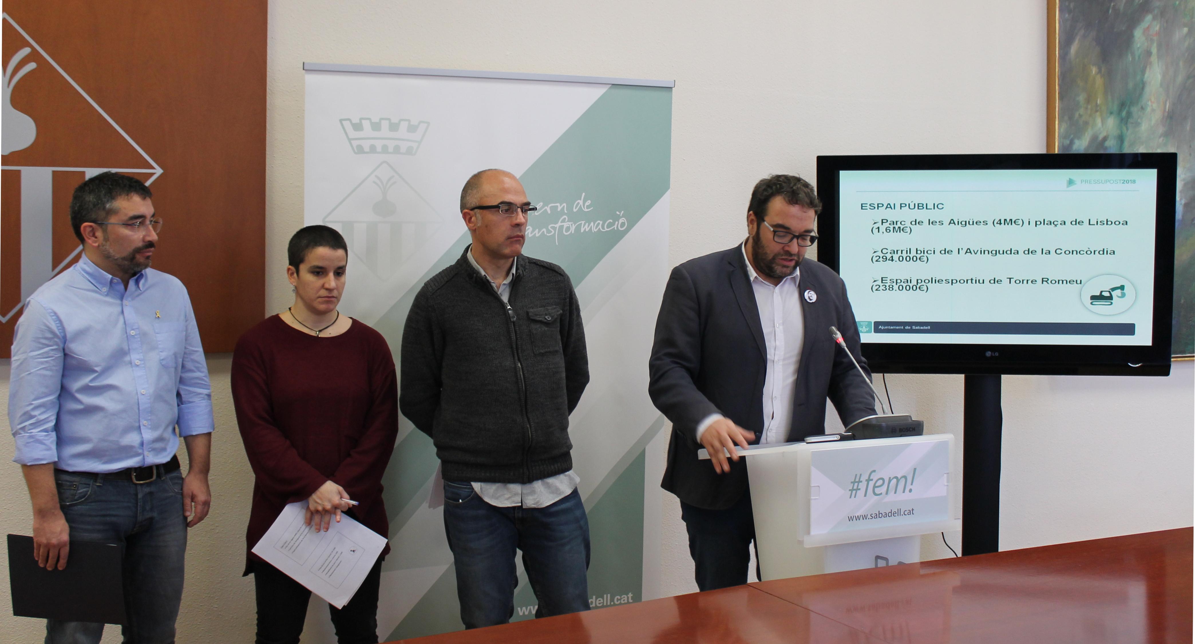 El pressupost 2018 destina 54,1 milions d'euros per posar al dia la ciutat i fomentar la cohesió social