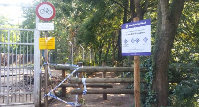 Tancat el torrent de Colobrers avui i demà divendres per treballs de retirada d'arbres caiguts