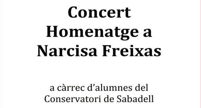 L'Escola Municipal de Música i Conservatori ofereix dijous un concert homenatge a Narcisa Freixas obert a tothom