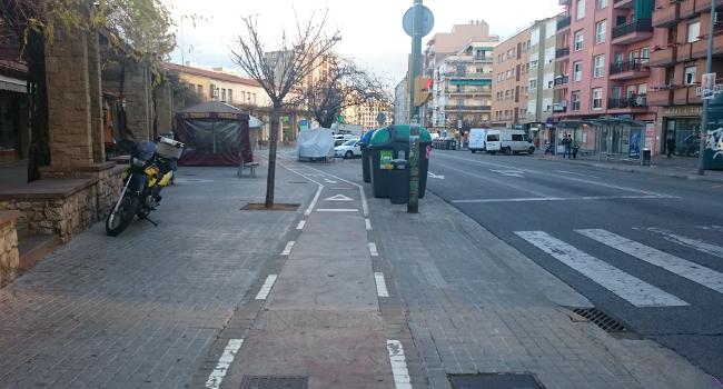 L'avinguda de la Concòrdia es transforma en una via de prioritat per a vianants, bicicletes i transport públic