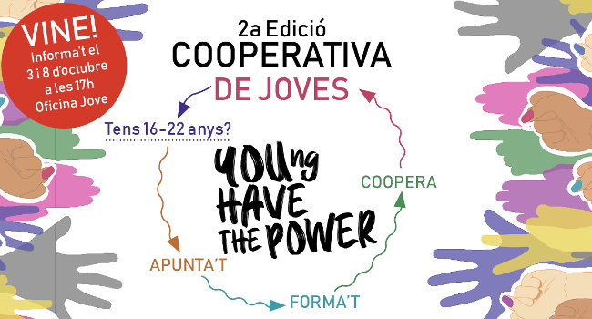Inscripció oberta per formar part de la Cooperativa de Joves de Sabadell 2019