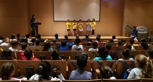 Alumnes de les 5 escoles que han participat en el CUEME tanquen el curs amb una trobada conjunta