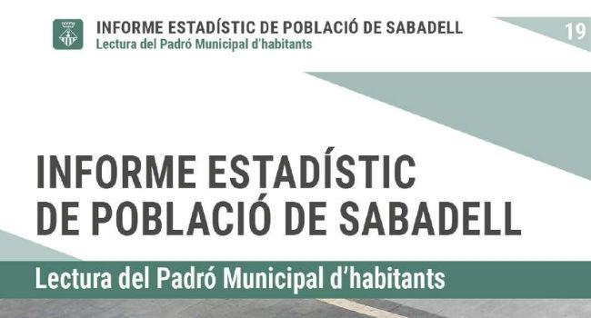 La població de Sabadell accelera el ritme de creixement i supera els  216.000 habitants