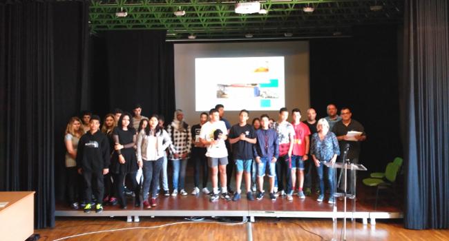 L'alumnat participant a El patrimoni al desQobeRt presenta els vídeos que han elaborat