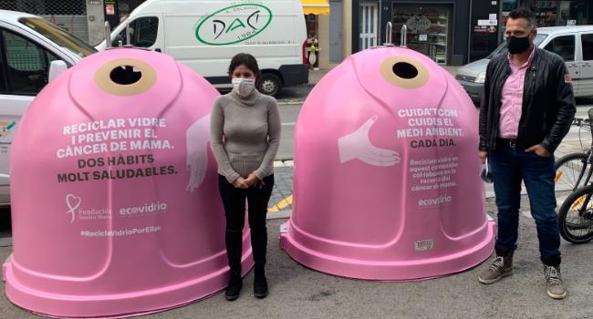 """Sabadell acull la campanya solidària """"Recicla Vidre Per Elles"""" amb motiu del Dia Mundial del Càncer de Mama"""