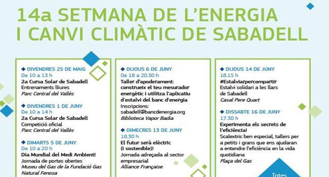 La 14a Setmana de l'Energia i el Canvi Climàtic a Sabadell arrenca amb una Cursa Solar al Parc Central del Vallès