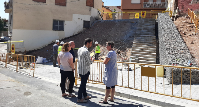 Prenen forma les noves escales que connecten els carrers dels Celtíbers i del Maestrat