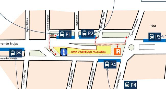 Les andanes de l'estació d'autobusos de Sabadell romandran tancades per fer-hi obres de millora