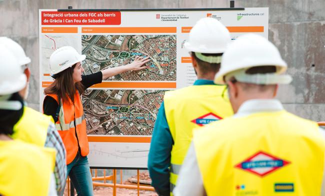 Amb les obres d'integració urbana dels FGC s'interromprà la circulació del tren entre les estacions de Can Feu | Gràcia i Sant Quirze aquest estiu